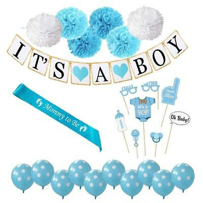 Baby Shower Party Decoration Supples for Boy Perfect All in One Bundle Package](Baby Shower Decoration Packages)