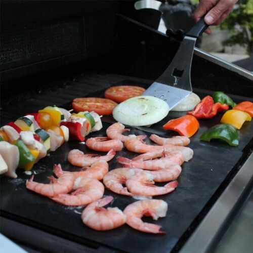 Non Stick Make Grilling Easy Bbq Copper Grill Mat Set Of 2