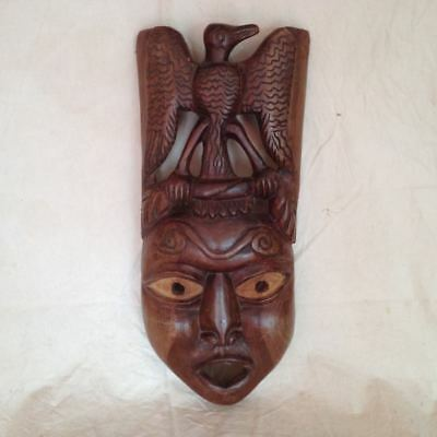 Old Asiatic Wooden Mask Mask