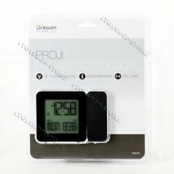 Oregon Scientific Atomic Projection Clock w/Indoor Temp & Calendar Alarm Black