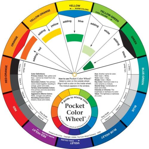 Pocket Color Wheel Paint MIXING COLOR GUIDE Art Artist 5 inch Diameter