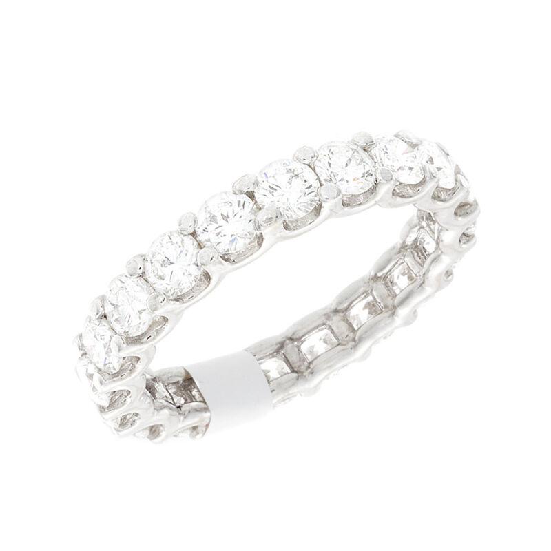 Diamond Eternity Ring 6.50 Carat Round Shape Prong Style Platinum