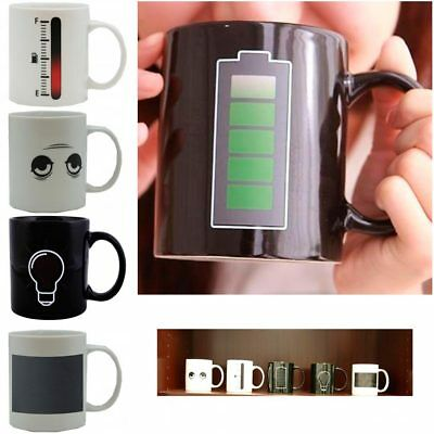 1 Magic Battery Tea Water Hot Cold Heat Sensitive Color Changing Mug Cup Coffee