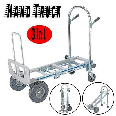 New Foldable 3 In 1 Aluminum Hand Truck Dolly Cart Stairs Wheels 770lbs Capacity