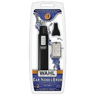 Wahl Ear  Nose   Brow Dual Head Wet Dry Trimmer 1 Ea