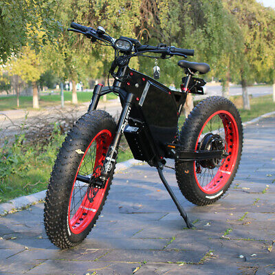 C&E Stealth Bomber 5000w/72v Fat Tire Electric Scooter Beach Mountain Ebike FAST