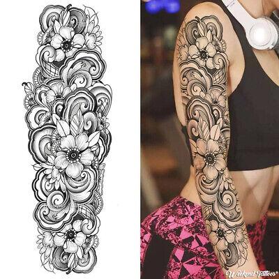 TEMPORARY TATTOO ARM SLEEVES ROSES FLOWERS ADULT WOMEN MEN HALLOWEEN COSPLAY - Roses Tattoo Sleeves