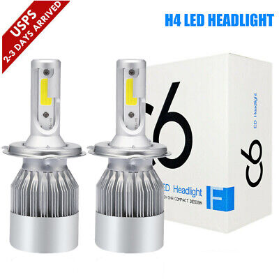 H4 9003 HB2 LED High Low Beam Headlight Kit 390000LM 2600W Bulbs 6000K White (Toyota Prius 1 2 3 4 5)