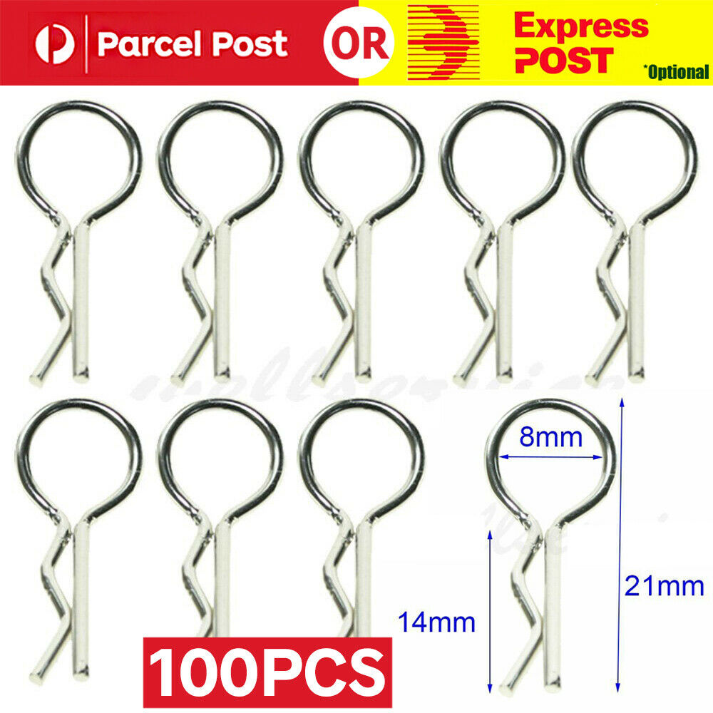 Car Parts - 100PCS Body Shell Clip Pin For HSP Redcat HPI RC 1/10 Model Car Spare Part 02053