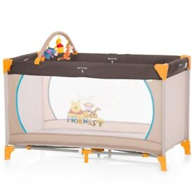 Winnie the Pooh travel cot and mattress