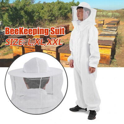 Xxl Beekeeping Bee Keeping Full Body Suit Jacket Pull Over Smock W Veil Size