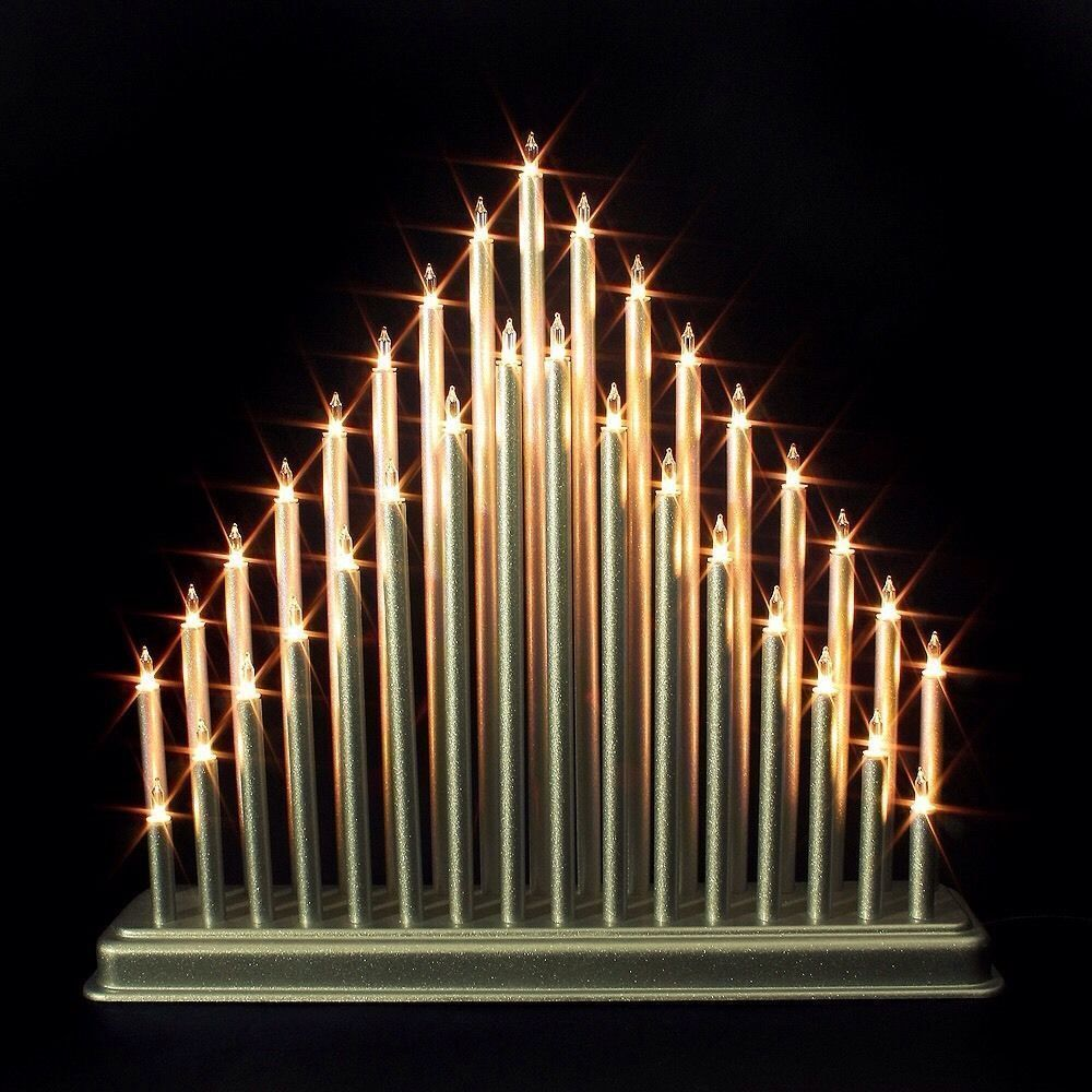 Modern 33 light candle bridge arch christmas xmas window for Arch candle christmas decoration