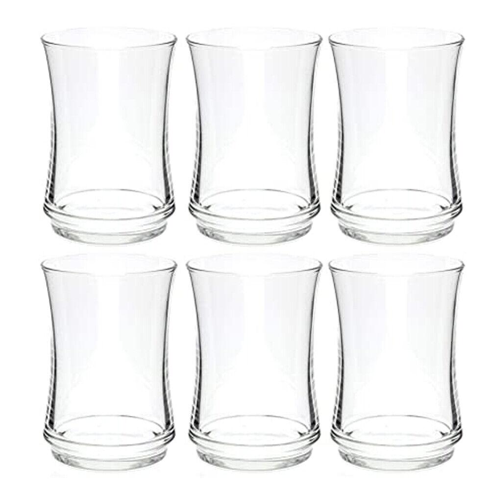 Kit 6 Bicchieri In Vetro Cristallino Da 225ml Per Tavola Cucina Casa