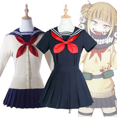 Toga Toga Toga (My Hero Academia Himiko Toga Cosplay Kostüm JK Schllo Uniform Outfit Komplettset)