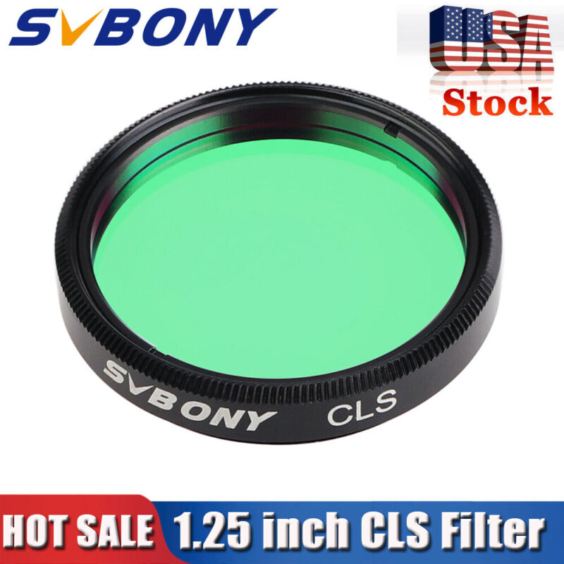 "SVBONY 1.25"" CLS Deep Sky Filters For 1.25"" Eyepieces Cuts Light Pollution US"
