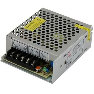 24 volt DC power supply enclosed switch mode 24V  1.1A 25W