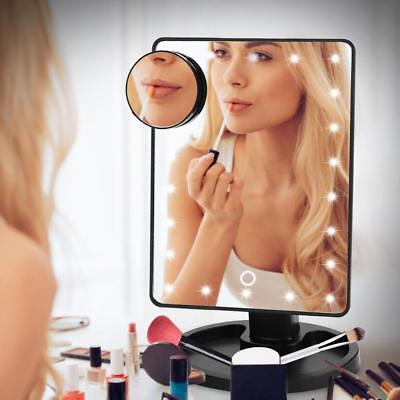 Vanity Stand (22 LED Lighted Touch Screen Stand Vanity Makeup Mirror 10X Magnifier 360° Rotate)