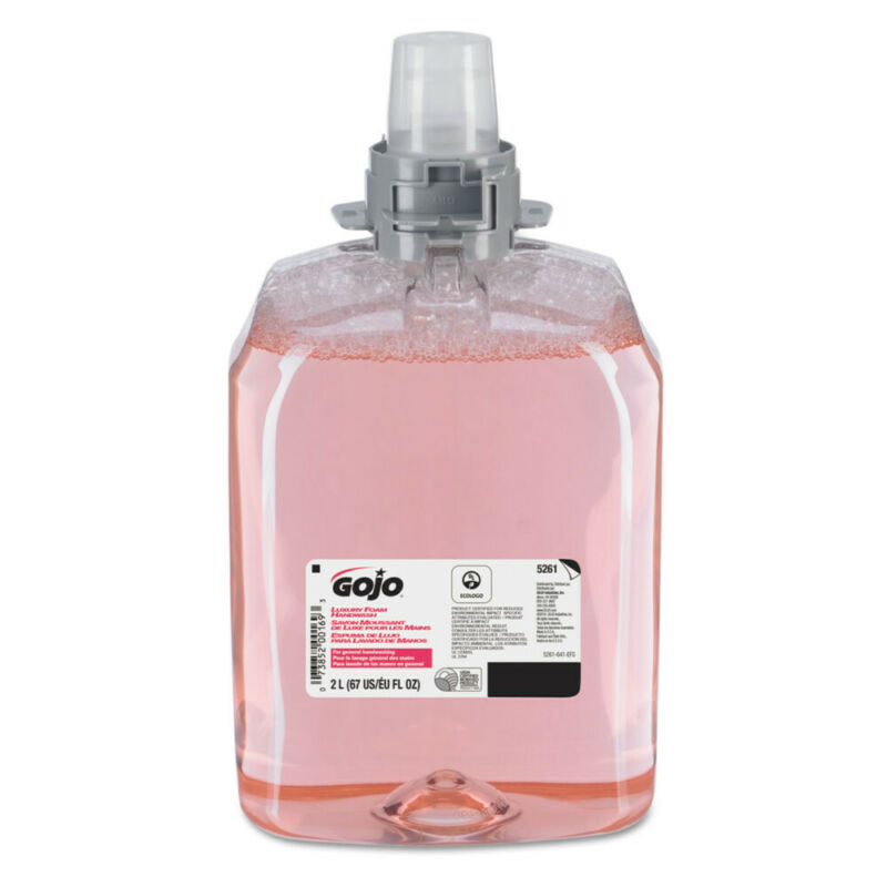 GOJO Luxury Foam Hand Wash Refill For Fmx-20 Dispenser, Cranberry Scented, 2/car