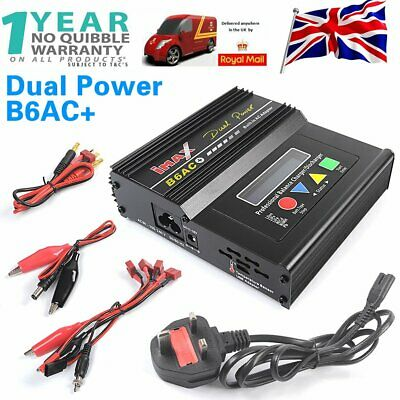 iMAX B6AC+ AC/DC Digital RC Lipo NiCD NiMh Battery Balance Charger Recharger UK