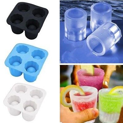 Diy Shot Glass (Food-Grade Cute DIY Shot Glass Party Bar Shape Silicone Freeze Mold Drink)