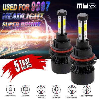 4-Sides 9007/HB5 LED Headlight Kit High Low Dual Beam Bulb 1600W 250000LM 6000K