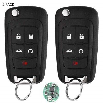 2x Remote Key Fob for Chevy 2010-2017 Equinox Sonic Trax GMC Terrain OHT01060512 Chevy Key Fob