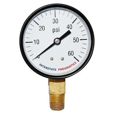 Pressure Gauge 60 Psi 2 -12 Diameter 14 Npt Bottom Mount G2022-060