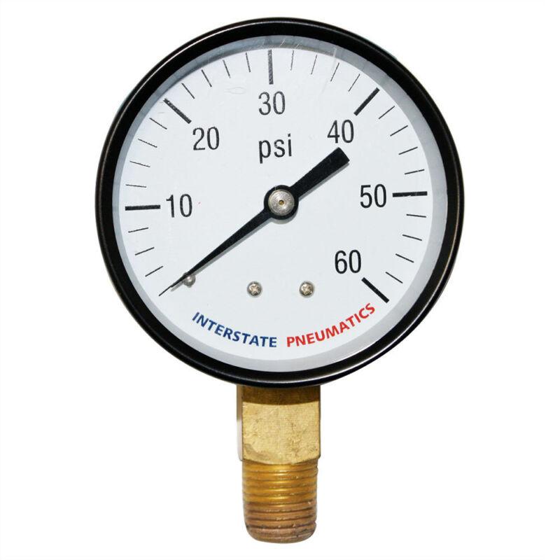 """Pressure Gauge 60 PSI 2 -1/2"""" Diameter 1/4"""" NPT Bottom Mount  G2022-060"""