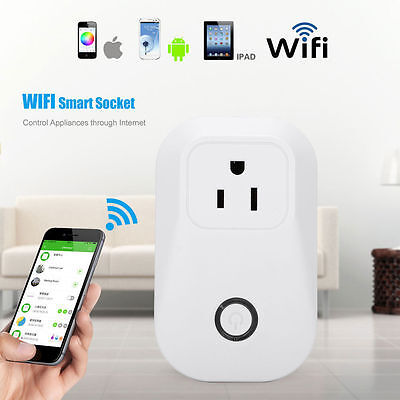 Wireless Remote Control Timer Timing Switch WiFi Smart AC Power Socket Outlet