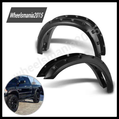 2009 2014 dodge ram 1500 bolt on rivet style fender flares left right. Black Bedroom Furniture Sets. Home Design Ideas