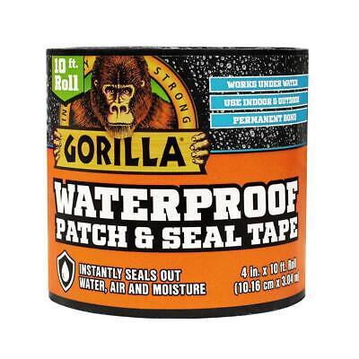 Gorilla Waterproof Patch Seal Tape 4 In. X 10 Ft. Black