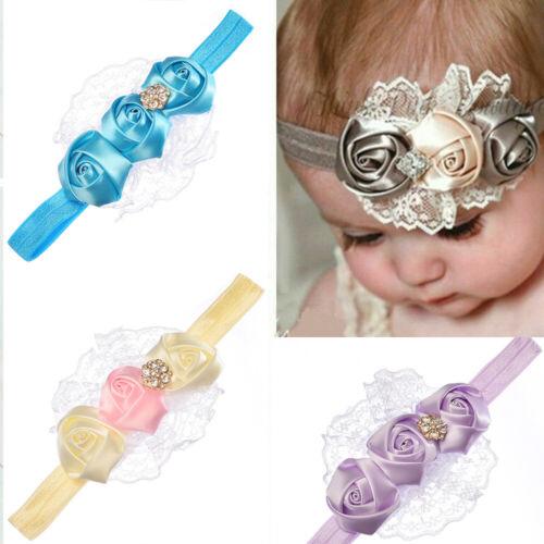10pcs Baby Girl DIY Headband Lace Elastic Hair Band Hairband Headdress Headwear