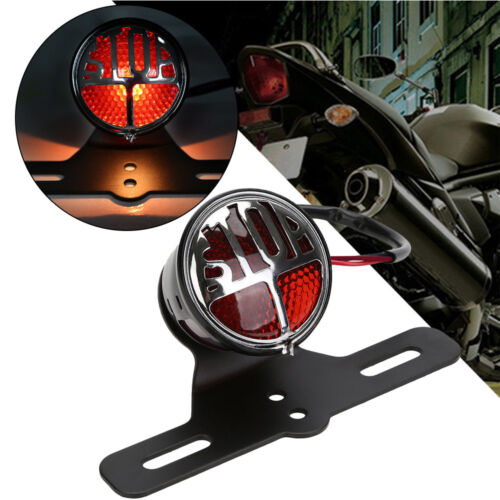 Motorcycle Red Rear Tail Brake Stop Light Lamp For Harley Cafe Racer Chopper USA