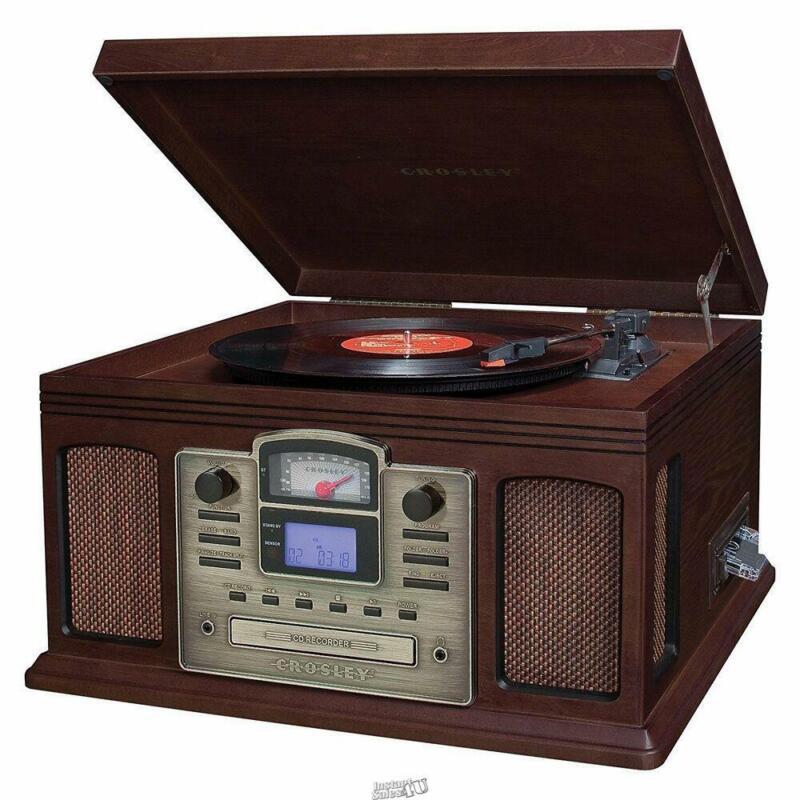 Crosley LP/Cassette Record to CD Audio Enhancing Converter (Brown) CR2405C-ES