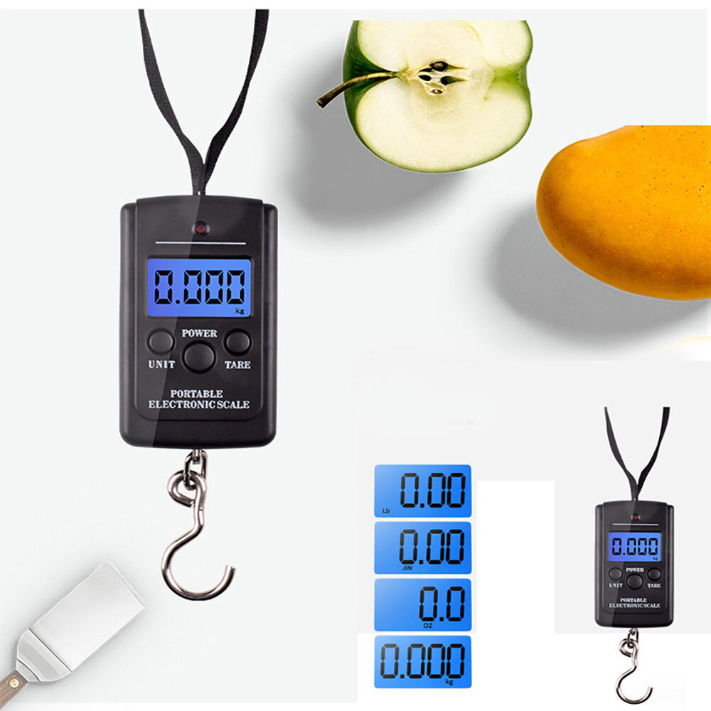 40kg x 10g Digital Scale for Fishing Luggage Steelyard Hanging Electronic Scale