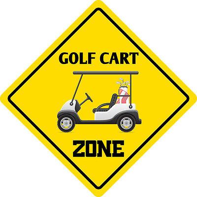 *Aluminum* Golf Cart Funny Metal Novelty Sign 12