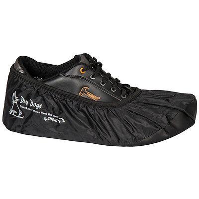 Ebonite Dry Dogs Black Bowling Shoe Covers Size Medium