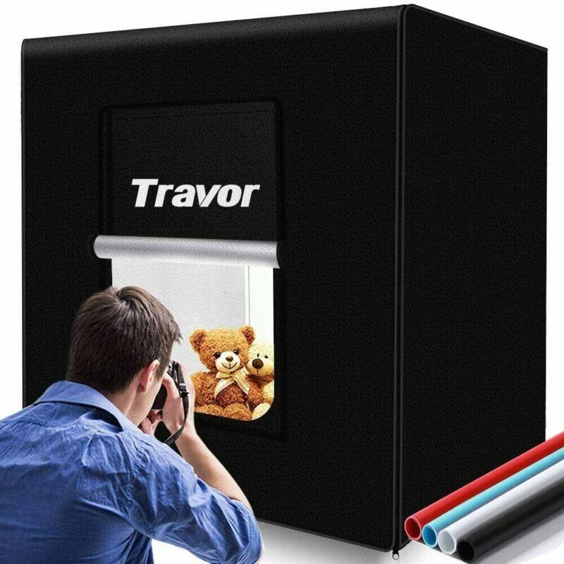 Travor Photo Light Box Kit 32x32Inch Dimmable Photo Studio Professional Shoot