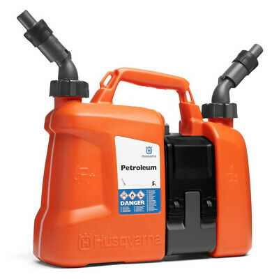 HUSQVARNA COMBI CAN 5L PETROL CAN + 2.5l CHAIN OIL ALL IN ONE