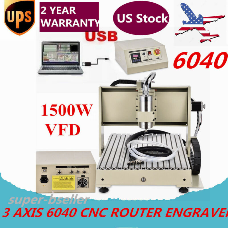 1.5KW USB 3 AXIS 6040 ROUTER ENGRAVER MILLING MACHINE ENGRAVING DRILLING