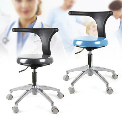 Dental Assistant Stool Medical Chair Round Base 360rotation Height Adjustable