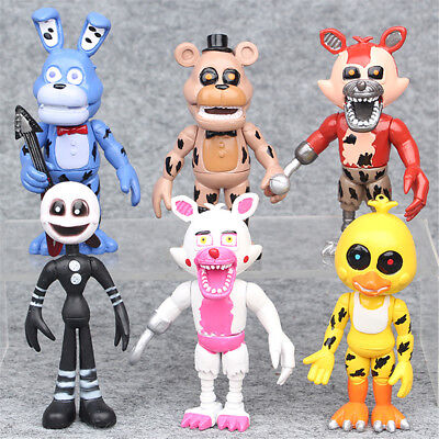 Five Nights At Freddy's Foxy Chica Bonnie 6 PCS Action Figure Cake Topper Toy US](Foxy Kids)