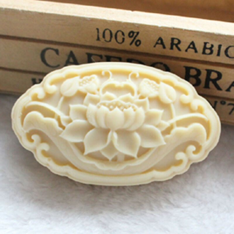Oval Shaped Flower Mold Lotus Handcrafted Soap Mold Silicone Candle Resin Mould