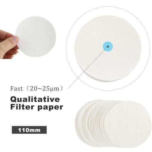 100PCS Qualitative Filter paper, Fast, Φ11cm, Grade 4, circles, 8μm 110mm Lab