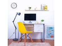 SALE!! White Compact PC Desk Computer desk Home Office Study Table Computer Desk With 2 Drawers