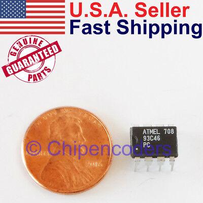 At93c46 1k Bit 3-wire Serial Eeprom Atmel Ic Dip 4.5-5.5v 93c46
