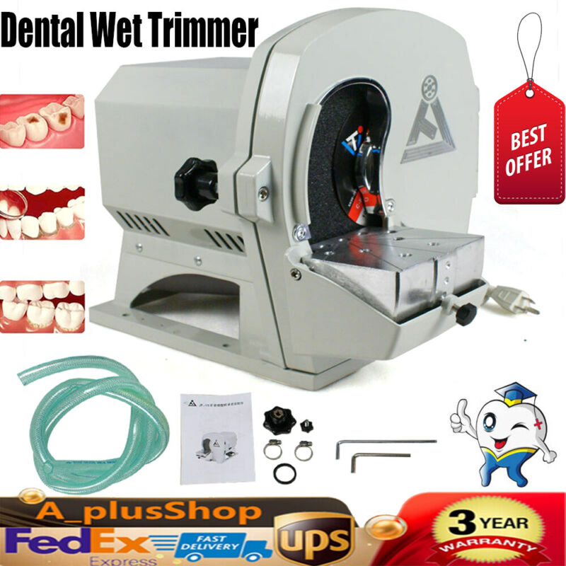 Dental Wet Trimmer Plaster w/ Abrasive Disc Wheel Gypsum Finisher 110V