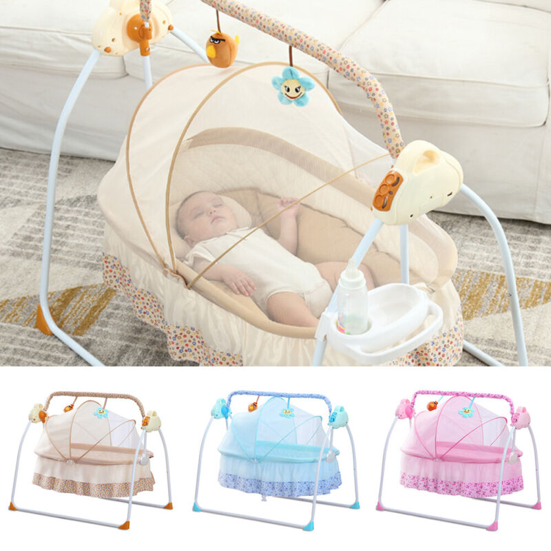 Bluetooth Electric Rocker Baby Swing Infant Cradle Bouncer Seat Chair PresentS