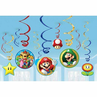 SUPER MARIO BROTHERS Birthday Party Room Decorations Bros Nintendo Game Luigi  - Mario Brothers Decorations