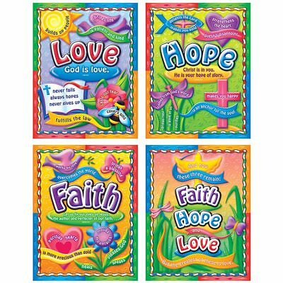 Faith, Hope, and Love Bulletin Board Set Carson Dellosa CD-210004